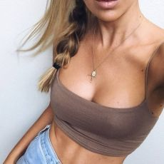 2019 New Fashion Women Sexy Crop Tops Solid Summer Camis Women Casual Tank Tops Vest Sleeveless Crop Tops blusas