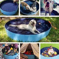 Pet Bath Pool Bathing Dog Cleaner Bathtub PVC Tub Mini Bathtub Foldable Portable Dog Pool Paw Summer Pink Bathroom