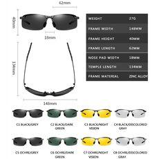 Photochromic Sunglasses Men Polarized Chameleon Glasses Male Change Color Sun Glasses Day Night Vision Driving Eyewear uv400