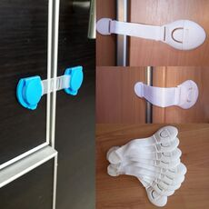 10 pieces / safety lock baby child safety care plastic lock with baby baby protection drawer door cabinet cupboard toilet
