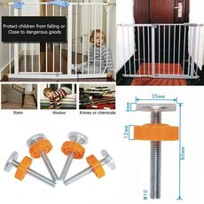 1PC Baby Pet Safety Stairs Gate Screws/Bolts with Locking Nut Spare Part Accessories Kit Baby Safety Doorways High Quality