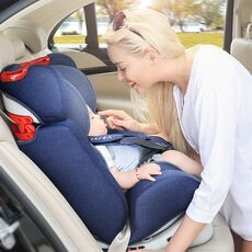 Adjustable Child Car Safety Seat 0-12Y Portable Baby Booster Car Seat ISOFIX Hard Interface Five Point Harness Toddler Car Seat