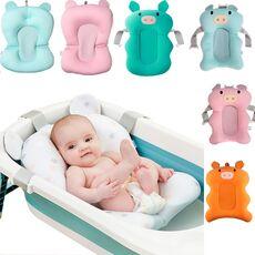 Baby Bath Seat Support Mat Foldable Baby Bath Tub Pad & Chair Newborn Bathtub Pillow Infant Anti-Slip Soft Comfort Body Cushion