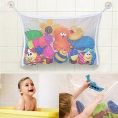 Children's Bath Play Toys Storage Bag Kid Bathroom Water Suction Cup Organiser Woven Mesh Oxford Fabric Baby Tubs Shower Product