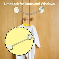 1pc Baby Safety Locks Plastic Child Window Restrictor Infant Security Lock Safety Kids Prevent Children Falling Window Lock
