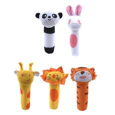 Newborn Baby Toys 0-12 Months Cartoon Animal Baby Plush Rattle Mobile Bell Toy Infant Toddler Early Educational Toys speelgoed