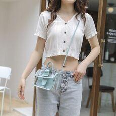 2020 Spring Summer Fashion Women Transparent square Sling Bag Cool PVC shoulder mobile messenger bag sweet lady bag