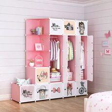 Children Furniture kid Wardrobe kids Cartoon storage cabinet simple assembly Resin closet guarda roupa infantil kids furniture