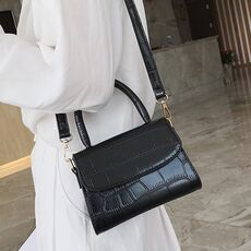 Fashion Women Simple Solid Color Polyester Shoulder Bags Messenger Hasp Phone Bag with Button Bolso Bandolera Mujer HW