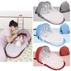 Portable Bed Foldable Baby Bed Travel  Sun Protection Mosquito Net Breathable Infant Sleeping Basket for dropshipper