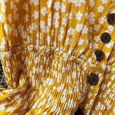 SINGRAIN Women Summer Floral Maxi Dress Bohemian Irregular Ruched Backless Ruffle Dress Vintage Long Cotton Print Beach Sundress