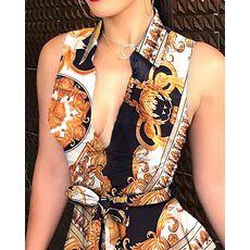 Women Print Sleeveless Dress Fashion Casual Bandage Mini A-line Dresses Sexy Party Summer Feminias Vestidos Female Sleepwear