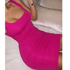 Women Summer Off Shoulder Mini Bodycon Dresses Backless Night Club Party Sexy Plus Size S-10XL Vestidos Candy-Colored Vest Dress