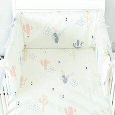 1PCS Newborn Bed Bumpers Toddler Crib Protector Cushion Soft Baby Cot Mattress 160x30cm