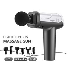 Body Massage Gun LCD Display Exercising Muscle Electric Massager Gun head Massager for Neck and Back Vibrator Slimming Shaping