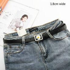 Daisy Buckle Belt Women Imitation Leather Alloy Buckle Belt New Belt Leisure Jeans Fashion Dress Women Belt