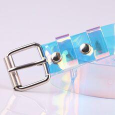 New Ladies Belt Simple Wild Belt Plastic Belt Transparent Women's Fashion Adult Solid Colourful