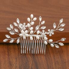 Silver Color Pearl Rhinestone Wedding Hair Combs Hair Accessories For Women Accessories Hair Ornaments Jewelry Bridal Headpiece