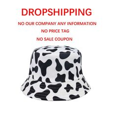 FOXMOTHER New Fashion Reversible Black White Cow Pattern Bucket Hats Fisherman Caps For Women Gorras Summer