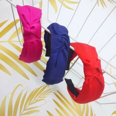 Free shipping elegant solid knot women hairbands girl's headbands ins wide lady's headwear hair accessories