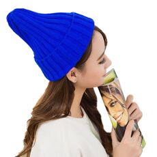 Hat Female Unisex Cotton Blends Solid Warm Soft HIP HOP Knitted Hats Men Winter Caps Women's Skullies Beanies For Girl Wholesale