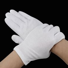 6 Pairs White Gloves Inspection Cotton Work Gloves Jewelry Lightweight Hight Quality