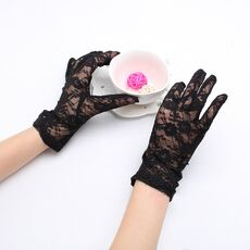 New Arrivial Party Sexy Dressy Gloves Women Lady Lace Mittens Accessories Sunscreen Summer Full Finger Girls Lace Fashion Gloves