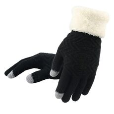 New Winter Touch Screen Knitted Gloves Women Fashion  Knit Gloves Mittens  Female thick Plush Wrist  Driving Glove Wholesale