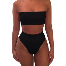 Swimwear Women Bandage Bra Swimsuit Bathing 2pcs Set