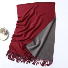 Winter Cashmere Scarf Women Thick Warm Shawls Wraps Lady Solid Scarves Fashion Tassels Pashmina Blanket quality foulard 2020 New