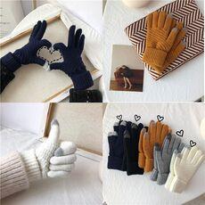 Winter Touch Screen Gloves Women Men Warm Stretch Knit Mittens Imitation Wool Full Finger Guantes Female Crochet Luvas Thicken