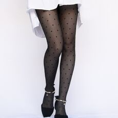 1PC Sexy Women Pantyhose Tights Summer Nylon Polka Dot Print Stockings Seamless Fishnet Mesh Female Hosiery Vintage Faux Tattoo