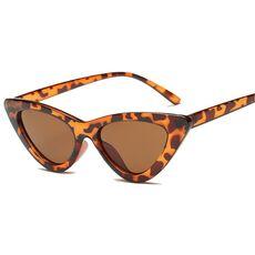 2020 fashion sunglasses woman brand Designer vintage retro triangular cat eye glasses oculos De Sol Transparent ocean uv400