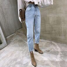 BGTEEVER Vintage High Waist Straight Jeans Pant for Women Streetwear Loose Female Denim Jeans Buttons Zipper Ladies Jeans 2020
