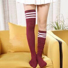Sexy Socks Striped Long Socks Women Long Stockings Warm Thigh High Socks For Ladies Girls New Fashion Striped Knee Socks Women