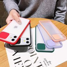 Slide Camera Lens Protection Phone Case For iPhone 11 11 Pro Max XR XS Max 6S 7 8 Plus X Matte Transparent Soft Back Cover Shell