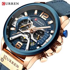 Top  CURREN Brand Casual Fashion Watches for Male Sport Military Leather Wrist Watch Men Watch Chronograph Relojes Hombre
