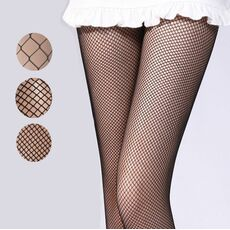 Women pantyhose Multicolor fishnet stockings colored small middle big mesh fish nets tights anti hook nylon dance collant panty
