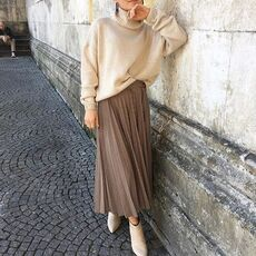 Aachoae Women Long Pleated Skirts 2020 New Spring Fashion Houndstooth Plaid Office Shirt Vintage Elegant Streetwear Midi Skirts