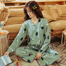 BZEL Women's Pajamas Sets Plus Size Femme Nighty Casual Homewear Loungewear Cotton Sleepwear Cartoon V-Neck Pijama Pyjamas M-3XL