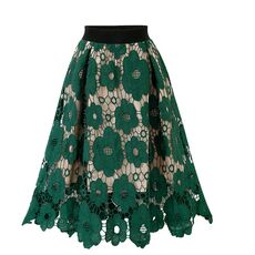 Faldas Mujer Moda 2019 Women Elegant Fashion Flower Embroidery Hollow Out Lace Skirts Womens Casual Sexy Skirt Party Black Skirt