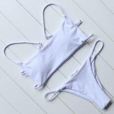 OMKAGI Brand Striped Bikini 2019 Swimsuit Swimwear Women Sexy Push Up Women's Swimming Suit Bathing Suit Micro Bikini Set
