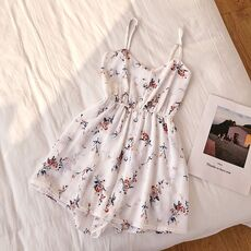 SINGRAIN Sleeveless Floral Women Jumpsuits Summer Beach Wide Leg Overalls Fashion Korean Playsuits Bohemian Print Strap Rompers