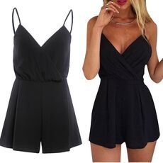 Sexy Playsuit Women Sleeveless Bodycon Black Elegant Jumpsuit Ladies Summer Romper Womens  Beach Jumpsuits Overall #YL