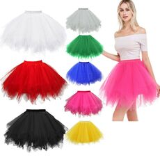 Women Adult Fancy Ballet Dancewear Tutu Pettiskirt Shirt Skirt Dance Fairy Tulle Skirt Ladies Fancy Party Ballet Mini Pettiskirt