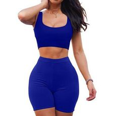 2 Piece Set Women Two Piece Dress Crop Top Skirt Set  Sports Leisure Home Sleeveless Outfits Summer Clothes For Women Sleeveless