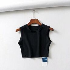 2020 Summer vintage white crop tops women biker black punk sexy tank top korean streetwear cropped sleeveless top feminino