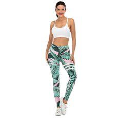 Brand Sexy Women Legging leaf Printing Fitness leggins Fashion Slim legins High Waist Leggings Woman Pants