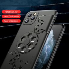 JONSNOW Mechanic Rotary Decompression Gear Cases for iPhone 11 Pro Anti-fall Protection Hard Cover for iPhone X XR XS Max Cases