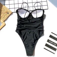 Meihuida Sexy Swimwear 2020 High Leg Cut Swimming Suit For Women Leopard Print Solid Swimsuit Padded Push-up Bikini Set